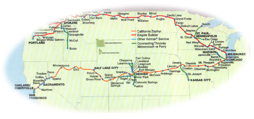 Map Of California Zephyr Route.The Great Move Eastwards