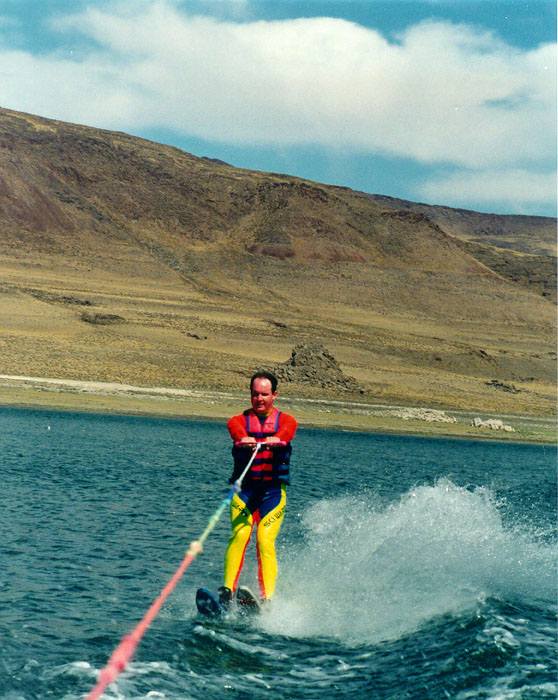 Water skiing at pyramid lake nv